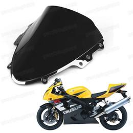 Wholesale Suzuki Gsxr Windscreen - New Motorcycle Double Bubble Windscreen Fairing Windshield Lens ABS for Suzuki GSXR 600 GSXR 750 2004-2005 K4