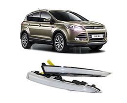 Luz led ford kuga on-line-Luz running do dia da Auto-Tecnologia, jogo claro do diodo emissor de luz DRL do guia para Ford ESCAPE / Kuga 2013 2014 2015