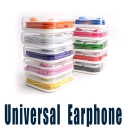 Wholesale Hook Ear Wires - 3.5mm Universal Colorful Earbuds In-Ear Stereo Headphones With Mic and Volume Control Earphone For iPhone 5 6 6 Plus Samsung S7 Android