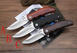 Wholesale Knife Hand Made - OEM Zero Tolerance ZT0606 knife Bearing Flipper Folding knife 9CR18Mov blade Outdoor Hunting multi-function tools With Hand-made Surface