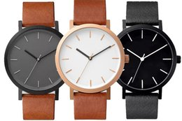 Wholesale Couple Watches Leather - wholesale 2017 fashion mens women the horse leather watch unisex lovers couple ladies casual dress quartz wristwatch new arrival