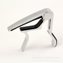 Wholesale Guitar Capo Silver - High Quality New Aluminium Alloy Silver Quick Change Clamp Key Acoustic Classic Guitar Capo For Tone Adjusting