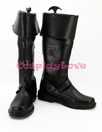 Wholesale Final Cosplay - Wholesale-Newest Custom Made Japanese Game Final Fantasy XV FFXV FF15 Stella Nox Fleuret Cosplay Shoes Long Boots For Halloween