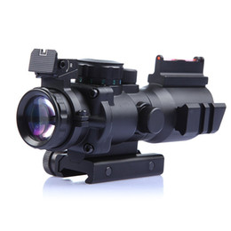 Wholesale Rifle Night Visions - Tactical 4x32 Sniper Scope Mini Red Dot Airsoft Sight Hunting Scopes Riflescope Night Vision Rifle Scope for Hunting Shooting