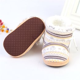 Wholesale Coral Baby Shoes - Wholesale- 2016 Girl Baby Coral Velvet Warm Baby First Walkers Winter kids Boots Toddler Soft Sole Infant Shoes TQ
