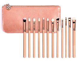 Wholesale Complete Cosmetic Set - hotsale 15pcs Rose Golden Complete Set Makeup Brushes 3 Styles with Leather Package Face&Eye Brushes Daily Cosmetics Brushes b767