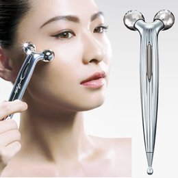 Wholesale Eyes Care Massager - ReFa CARAT Eyes Roller Platinum Electronic Eyes Massager microcurrent Eye Body Face Massager Upgraded Lifting & Firming Lines & Wrinkles