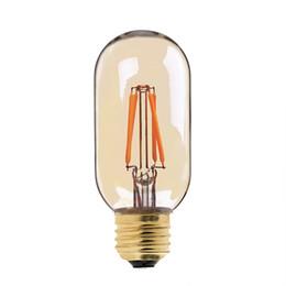 Wholesale White Gold Pendant Light - 4W,Vintage LED Filament Bulb,Gold Tint,Edison T45 Tubular Style,E26 E27 Base,Decorative For Pendant lights,Dimmable