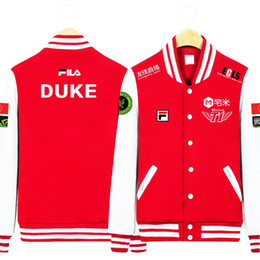 Wholesale Final Animation - Wholesale- Animation Game LOL Faker SKT1 S6 Team Uniform WAR Finals lol player fleece baseball jacket in stock free shipping NEW