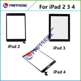 Wholesale Digitizer Lcd Touch Screen - For iPad 2 3 4 Touch Screen Digitizer Assembly Glass Front Lens Replacement Part for iPad White Black fast shipping