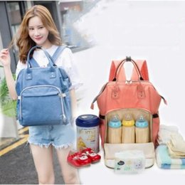 Wholesale Famous Mothers - Mommy Backpacks Mom Nappies Bags Fashion Mother Backpack Diaper Maternity Backpacks Large Outdoor Travel Bags Famous Brand Free Shipping