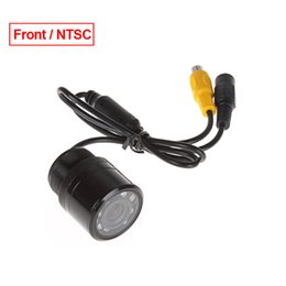 Wholesale 28mm led - LEEWA Car Auto 28mm 170 Degree Front View Color Night Vision Car Camera With IR LED Light NTSC # 1366
