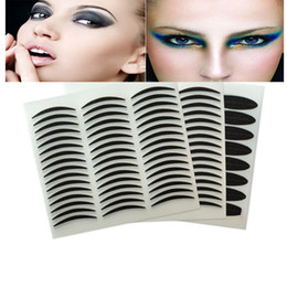 Wholesale Eye Tape Makeup - 72Pairs Invisible Double Eyelid Tape Trial Stickers Makeup Eye Cosmetics Tools Magic Instant Adhesive Eyelid Tape Paste Beauty