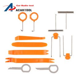 Wholesale Trims For Cars - 12pcs Set Home tools For Car Radio Door Clip Panel Trim Audio Removal Pry Repairing Tool Kit New