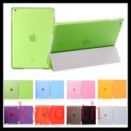 Wholesale Magnet Case Ipad Air - Front Magnet Smart Cover + Back Hard Crystal Case for ipad 2 3 4 5 6 ipad air 2 mini 4