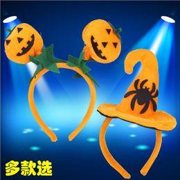 Wholesale Pumpkin Headbands - 2016 New Style Hairband Headband Katyusha Hair Band Pumpkin Hat Hair Sticks Adults Children Hair Accessories Halloween Gift Party Dress
