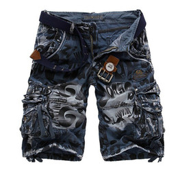 Wholesale Shorts Cargo Capri Casual - Plus Size 29-38 Men's Military Cargo Short Pant Casual Multi Pocket Camouflage Army Green Capri Trouser Free Shipping
