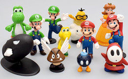 Wholesale Toy Dinosaurs For Sale - Hot sale Super Mario Bros figures yoshi Figure dinosaur toy super mario yoshi donkey kong toad action figures PVC Doll For Kid Gift 18PCS