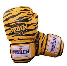 Wholesale Kick Boxing Bags - free shipping boxing gloves boxing fight gloves fits Kick Sanda Fighting MMA Gloves Punching Bag Boxing Gloves Tiger Stripes