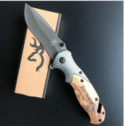 Wholesale Ganzo Folding Knife - Browning x50 CS GO carbon fiber+rosewood Folding knife cold steel ganzo Tactical huntingknive camping survival Pocket Knife tool