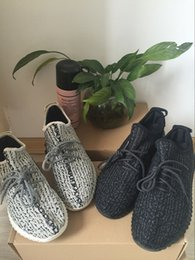 Wholesale Pirate Ship Fabric - Kanye West 350 boost Classic pirate black 350s low boots Men women Running Sneakers casual Shoes With Box Free Shipping size 36-45