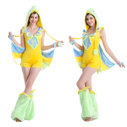 Wholesale Pack Women Game - Halloween costume export Europe and the United States game uniform temptation Green bird pack animals for cosplay uniform