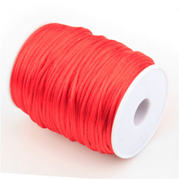 Wholesale Nylon Cord For Jewelry - 100 Yards Nylon Cords For DIYJewelry Making Elastic Chinese Knot Jewelry Cord Threads