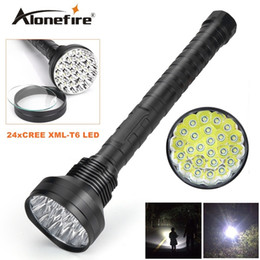 Wholesale High Power Led Driving Lights - Alonefire HF24 CREE XM-T6 24xT6 LED 38000 lumens High power 5Mode Glare 24T6 LED lashlight Torch Working lamp floodlight accent light