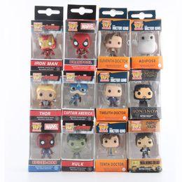 Wholesale Captain Games - Funko Pop Marvel Super Hero Keychain Figure Deadpool Captain America The Walking Dead Game of Thrones Hulk Spiderman