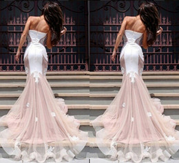 Wholesale Dress Quinceanera Organza Strapless - Retro chest wrapped package hip embroidery Lei mesh yarn princess party dress skirt fishtail skirt big skirt