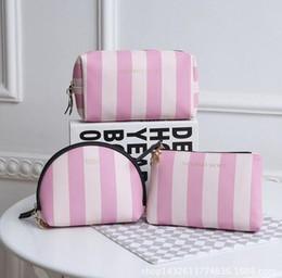 Wholesale Train Pillow Case - Top quality Victoria Classic Love VS Pink Cosmetic makeup train case Bag Zipper Handbag Portable Storage Bag 3 styles