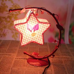 ночная оптика оптом Скидка 3 цвета звезды пентаграмма цветок творческий мини утюг ночник настольная лампа кровать свет для друзей любителей подарков на день рождения