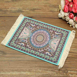 Wholesale Wholesale Print Bamboo - Wholesale-Persian Rug Mouse Pad Custom Bohemian Style Mouse Mat High Definition Printing Computer Game Mouse Home Decorative Xmas Gift