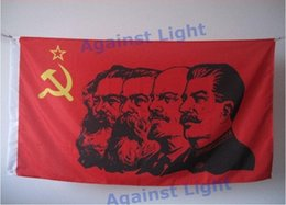 Wholesale Soviet Union - USSR Victory Day Flag 90 x 150 cm Polyester Stalin Lenin Marx Engels Communist CCCP Soviet Union WWII Russian Memorial Banner