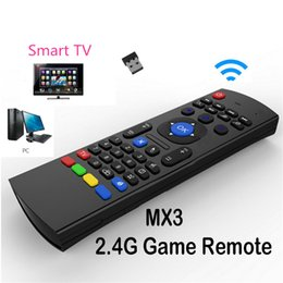 Wholesale Mini Wirless Keyboard - U1 Wirless Mini Keyboard Air Mouse Remote Control 2.4G Sensing Gyroscope Sensor Combo X8 MX3 For S905X S912 TX5 Android TV BOX