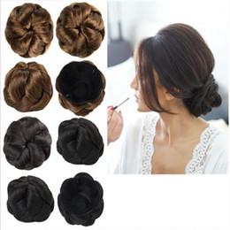 Wholesale Hair Extension Chignon - Sara Bride chignon Buns Donut Roller Hair Bun Extension Hairpieces 10*6CM Clip-in Jumbo Braids Synthetic hair chignon Bun High-quality