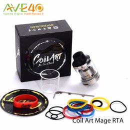 Wholesale Wholesale Original Art - Coil Art MAGE RTA Tank Coilart Mega RTA 3.5ml Capacity 24mm with Replacement Glass Tube 100% Original by CoilTech