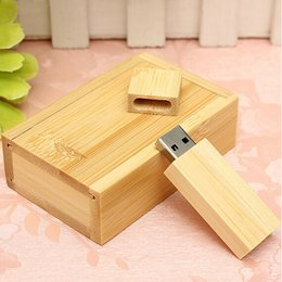 Wholesale Usb Memory Stick Drive - Wholesale- Wooden USB 2.0 Flash Drive Pen Drive U Disk Memory Thumb Sticks 16GB Gift