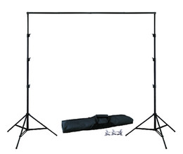 Wholesale Background Muslin Kit - DHL 10Ft X 6.5Ft FREE BACKGROUND HOLDER 3M X 2M Adjustable Muslin Background Backdrop Support System Stand Kit Carrying Bag