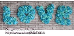 Wholesale Free Rose Background - Free Shipping 4pcs lot LOVE Letters Artificial silk flower wedding background LOVE flower road lead home market decoration