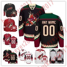 Wholesale Blue Coyote - Custom Arizona Coyotes Mens Womens Youth Black Third Phoenix Brick Red Black White Stitched Any Name Number Throwback Hockey Jerseys S-4XL