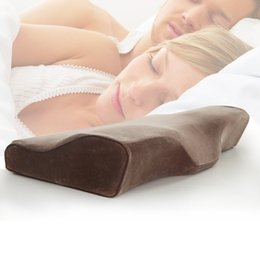 Wholesale Hotel Health - Wholesale- Bedding Therapy Anti-snoring Neck Head Memory Pillow Cervical Health Care Skin soft soothing 60*30CM Pillow Adults hotel bed