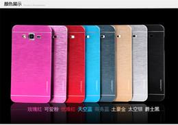 caso duro samsung a7 Rebajas Caso de metal cepillado de lujo Motomo marca cubierta trasera híbrida de plástico híbrido delgado para Samsung Galaxy J1 (J1 ACE) J2 J3 j5 j7 A3 A5 A7