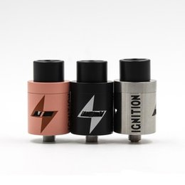 Wholesale Wholesale Ignition - IGNITION RDA Rebuildable Vaporizer with 22mm Wide bore drip tip PEEK Insulator 22mm Larger Air Chamber 5 colors Clone 510 atomizer DHL Free