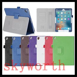 Wholesale Magnetic Business Cards Wholesale - High Quality Magnetic Flip Folio Leather case Stand for ipad pro 9.7 ipad air 3 air3 with Hand Holder Card Slot