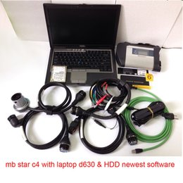Wholesale Mb Star C4 Sd - MB SD Connect Compact 4 Star C4 Diagnosis Plus D630 Laptop 2017.03 Software Installed Ready to Use DAS XENTRY MB Star C4