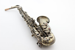 Wholesale Brass Sax - French Selmer 54 E Flat Alto Saxophone Top Musical Instrument Saxe Antique Copper Simulation Process Sax