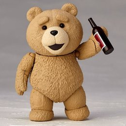 Wholesale Ted Christmas Bear - POPOToyFirm Movie TED 2 10cm Boxed Ted Teddy Bear BJD Figure Model Toys Action Figure Christmas Gift