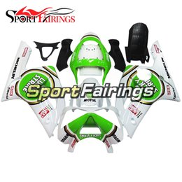 Wholesale Lucky Strike Motorcycle Fairings - Injection Fairings For Kawasaki ZX6R ZX-6R Year 03 04 2003 - 2004 Sportbike ABS Motorcycle Fairing Kit Bodywork Fairing Lucky Strike White
