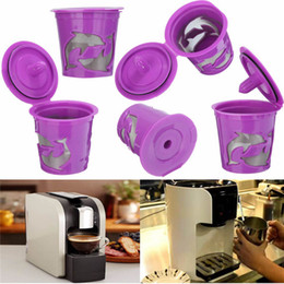 Wholesale Wholesale Capsule Machines - Morden Refillable Coffee Filter K-Carafe K-Cup Pod Spoon Set For Keurig 2.0 Machines Coffee Tea Tools Capsules Reusable Filter